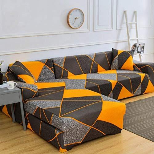 YANJHJY 1pieza Fundas de sofá elásticas elásticas con patrón de Tiras, para Sala de Estar Chaise Longue, Funda de sofá de Esquina, Color 30,1pieza 3, plazas (195,230cm)