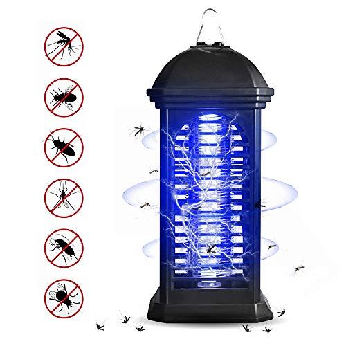 trounistro Insektenvernichter, elektrischer Insektenvernichter Moskito Killer mit 360° UV-Licht gegen, Tragbare Insektenlampe fur Mücken,Fliegen, Bienen für Schlafzimmer, Küche, Büro