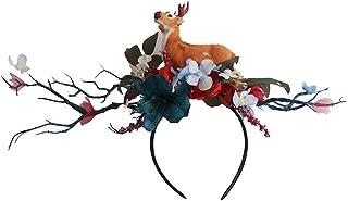 Christmas Headbands,Christmas Colorful Flower Headclip Costume Headband Animal Antlers Headband Deer Props Accessories for Kids Women Easter