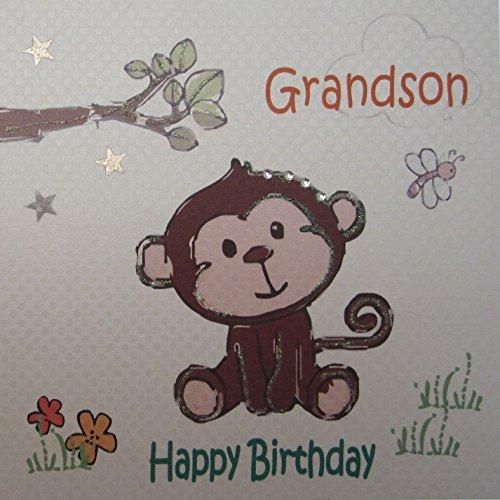 white cotton cards verjaardagskaart, motief Happy Birthday, handgemaakt, met tekst:
