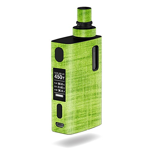 MightySkins Skin Compatible with JoyeTech eGrip 2 II – Green Fabric | Protective, Durable, and Unique Vinyl Decal wrap Cover | Easy to Apply, Remove, and Change Styles | Made in The USA