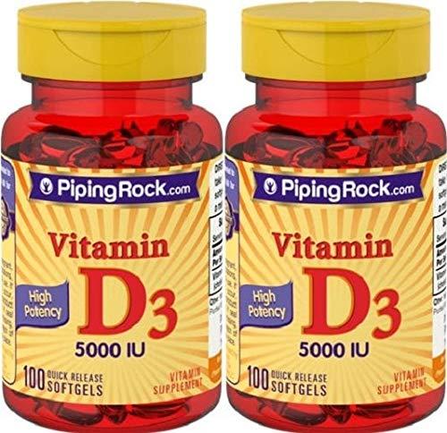 2 VITAMINA D3 5000 IU 100 PERLAS, Vitamin D3