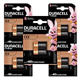Duracell 123 - Batteria High Power Lithium 3V, Specialistica Foto, CR123 / CR123A / CR17345 per l'Uso in Sensori, Serrature senza Chiave, Flash Fotocamera, Torce, Nero/Bronzo, 10 Batterie