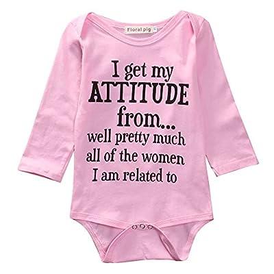 Newborn Infant Baby Girls Cotton Bodysuit Romper Jumpsuit Clothes Outfits (3-6Months)