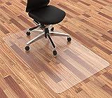 Homek Office Chair Mat for Hardwood Floor, 48 x 30 Inches Desk Chair Mat for Hard Floor, Easy Glide for Chairs