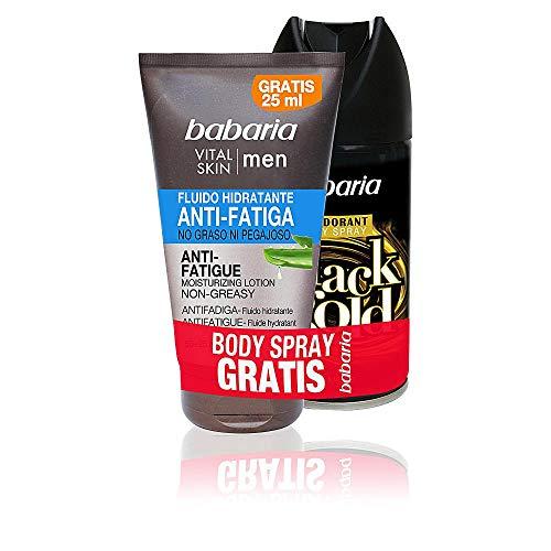 Babaria Men Vital Skin Antifatiga Set Fluide Hydratant Non-Gras + Déodorant 225 ml
