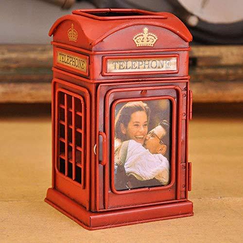 YYANG Telefonzelle Bleistiftstifthalter Traditionelles Lokales Kulturelles England Großbritannien Retro-Stiftbehälter-Make-up-Bürsten-Aufbewahrungsbox