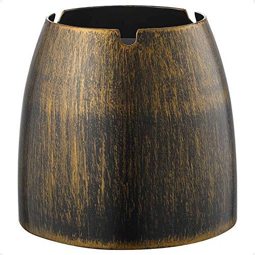 Sdvklly Cenicero de Acero Inoxidable de Bronce de cenicero de Viento para la Mesa de Metal al Aire Libre y de la Mesa de Metal Interior (Color : Bronze)