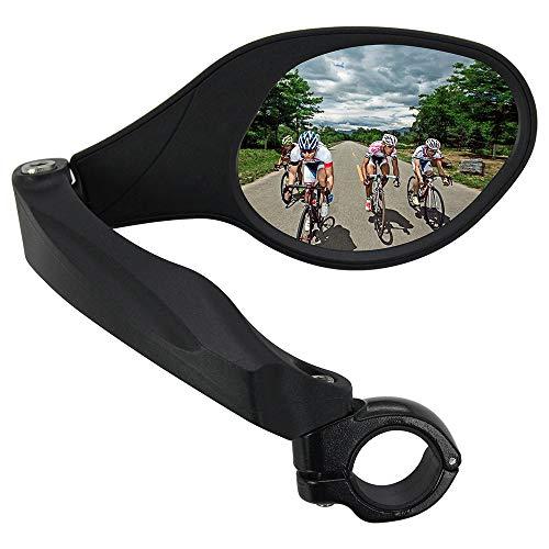 Arkham Fahrradspiegel Rückspiegel Generation 2.0 Einzelne Ellipse Recht,HD Edelstahl Spiegel(1 Stück Recht Ellipse)