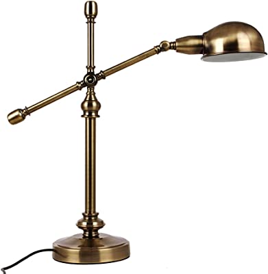Table Lamp Antique Bronze Book Light