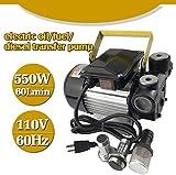 FFMT Oil Transfer Pump 110v Ac 16GPM 60L/min Electric Fuel Pumps, Self Priming Fuel Diesel Kerosene Biodiesel Pumps 550W USA Stock