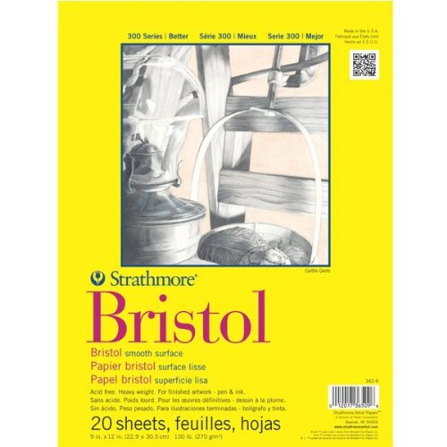 Strathmore 300 Series Bristol smooth 9 in. x 12 in. by Strathmore