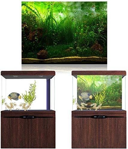 HEEPDD Aquarium Poster, Water Grass Style Fish Tank Fondo Poster Espesar PVC Adhesivo Decoración Etiqueta de Papel Estilo acuático como Real (91 * 41cm)