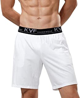 LeerKing Pack of 2 Men's Pyjama Shorts Cotton Plain Sleep Shorts Pyjama Bottoms