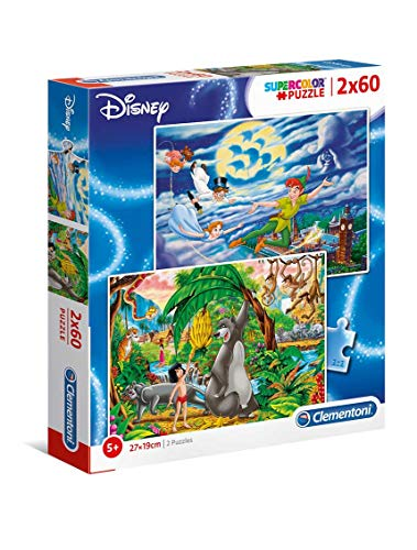 Clementoni- 2 Puzzles 60 Piezas Disney Classic (21613.0)