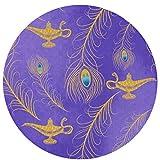 DNBCJJ Aladdin Art Deco - Alfombra de Microfibra Antideslizante para Puerta de salón o Estudio