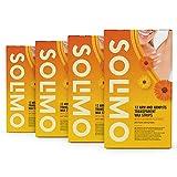 Marchio Amazon - Solimo - Strisce depilatorie braccia & ascelle trasparenti con estratto di...