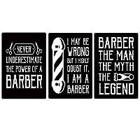 理髪店金属ポスター、ブリキ看板美容院、理髪店ブリキ看板金属板ブリキ看板,黒