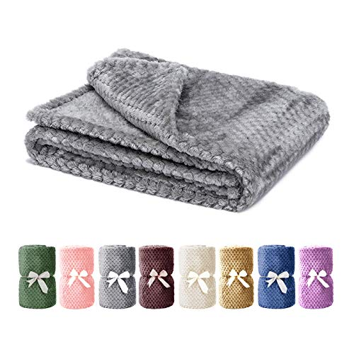 Msicyness Dog Blanket, Premium Fleece Fluffy Throw Blankets Soft and Warm Covers for Pets Dogs Cats(Medium Gray)