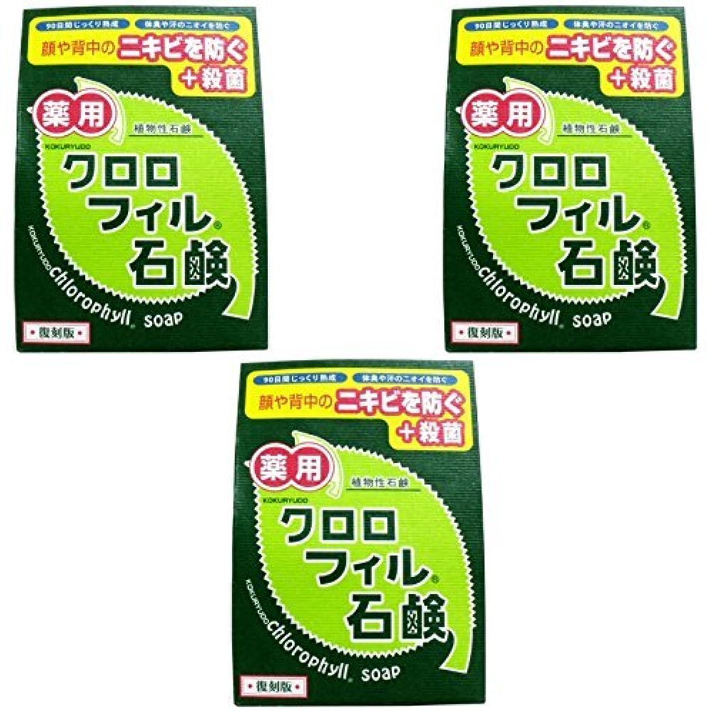 無効延期するトリム【まとめ買い】クロロフィル石鹸 復刻版 85g (医薬部外品)【×3個】