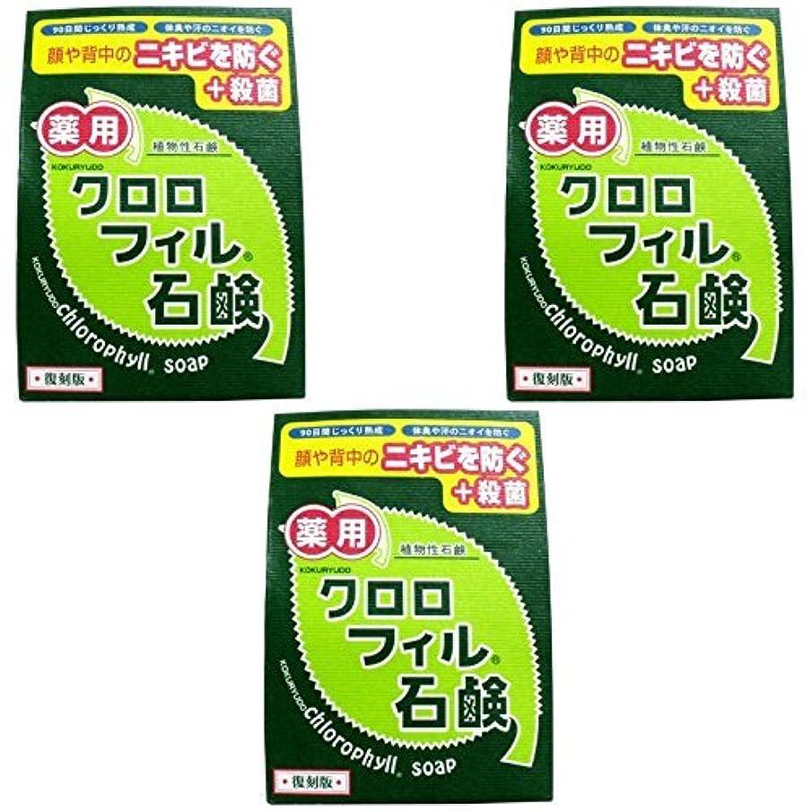 哀れな算術聞きます【まとめ買い】クロロフィル石鹸 復刻版 85g (医薬部外品)【×3個】