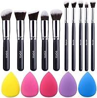 Amazon Brand – Eono Set di pennelli trucco Premium Synthetic Kabuki Foundation Cipria Fard Set di pennelli trucco...