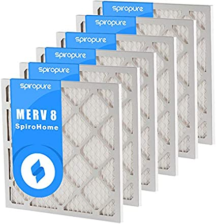 Made in USA SpiroPure 13X15X1 MERV 8 Pleated Air Filters 6 Pack