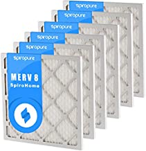 SpiroPure 17.5X21X1 MERV 8 Pleated Air Filters - Made in USA (6 Pack)