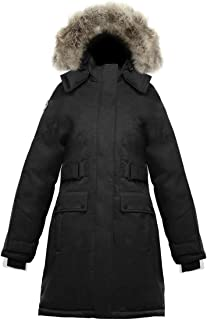 SAGA Collection | Isella Womens Hooded Goose Down Jacket Parka with Real Coyote Fur