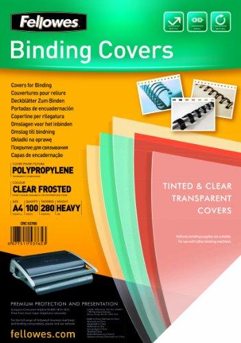 Fellowes 5376501 - Portadas para encuadernar de polipropileno, A4, transparente