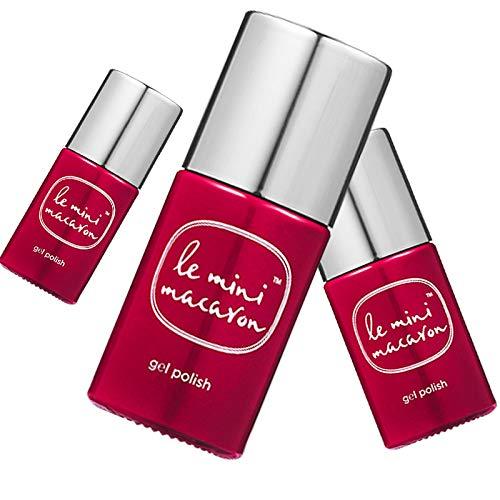 Le Mini Macaron • Vernis à Ongles UV 3 en 1 • Nail Gel Semi-Permanent • Séchage LED • Rouge Dahlia Couleur Rouge • 10ml