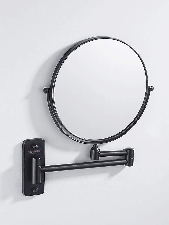 欺阻害する読書壁掛け式 化粧鏡,ポータブル 折り畳み可能 360度回転 3X倍率 化粧鏡 適しています 浴室 ホテル-A