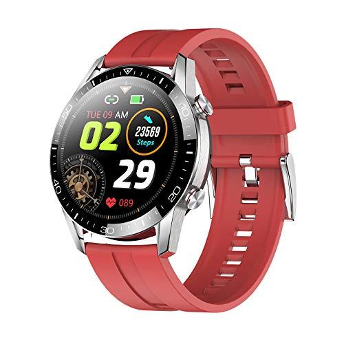Sconosciuto Generic 2021 - Reloj inteligente con Bluetooth, de TK28, medidor de presión sanguínea, monitor de actividad física, IP68, resistente al agua. Si te gusta sudar, de silicona roja