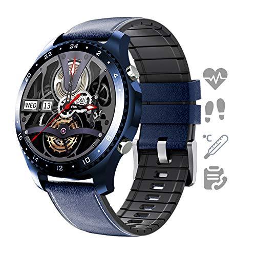 HQPCAHL Smartwatch Reloj para Android iOS con Llamada Bluetooth Monitor De Temperatura Frecuencia Cardíaca Presión Arterial Spo2 Sueño, Monitores De Actividad con 11 Deportes,H
