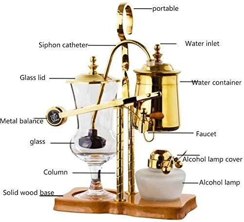Koffiezetapparaat Espressomachine Klassieke sifon Koffiepot Handmatig brouwen Koffie Sifon Pot Set Geschenkdoos voor