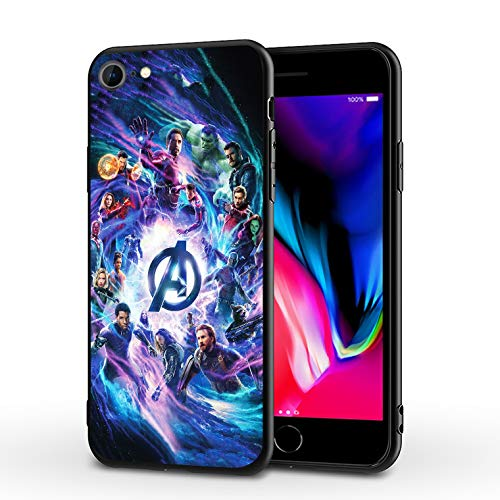 PUTEE Comics iPhone 7 Case iPhone 8 Case iPhone SE 2020 Case Full Body Protection Cover Cases (Avengers-mv, iPhone 7/8/SE2)