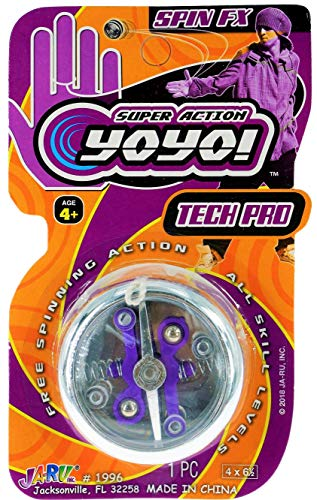 JA-RU Tech Pro Yoyo Toy Professional Yo-Yos (1 Pack Assorted) Fidget Professional Yoyos for Kids and Adults. YoYo Toy in Bulk, Gifts, Party Favors in Bulk Party Supplies 1996-1A