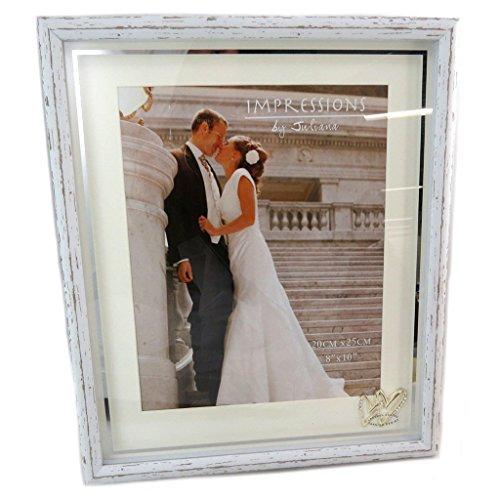 Les Trésors De Lily [P6532 - Cadre Photo Bois 'Romance' Blanc Vintage - 20x25 cm