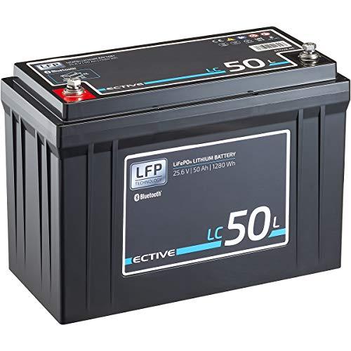 ECTIVE LC50L BT 24V 50Ah 1280Wh LiFePO4-Batterie mit Bluetooth-Funktion Lithium-Eisenphosphat Versorgungs-Batterie inklusive App