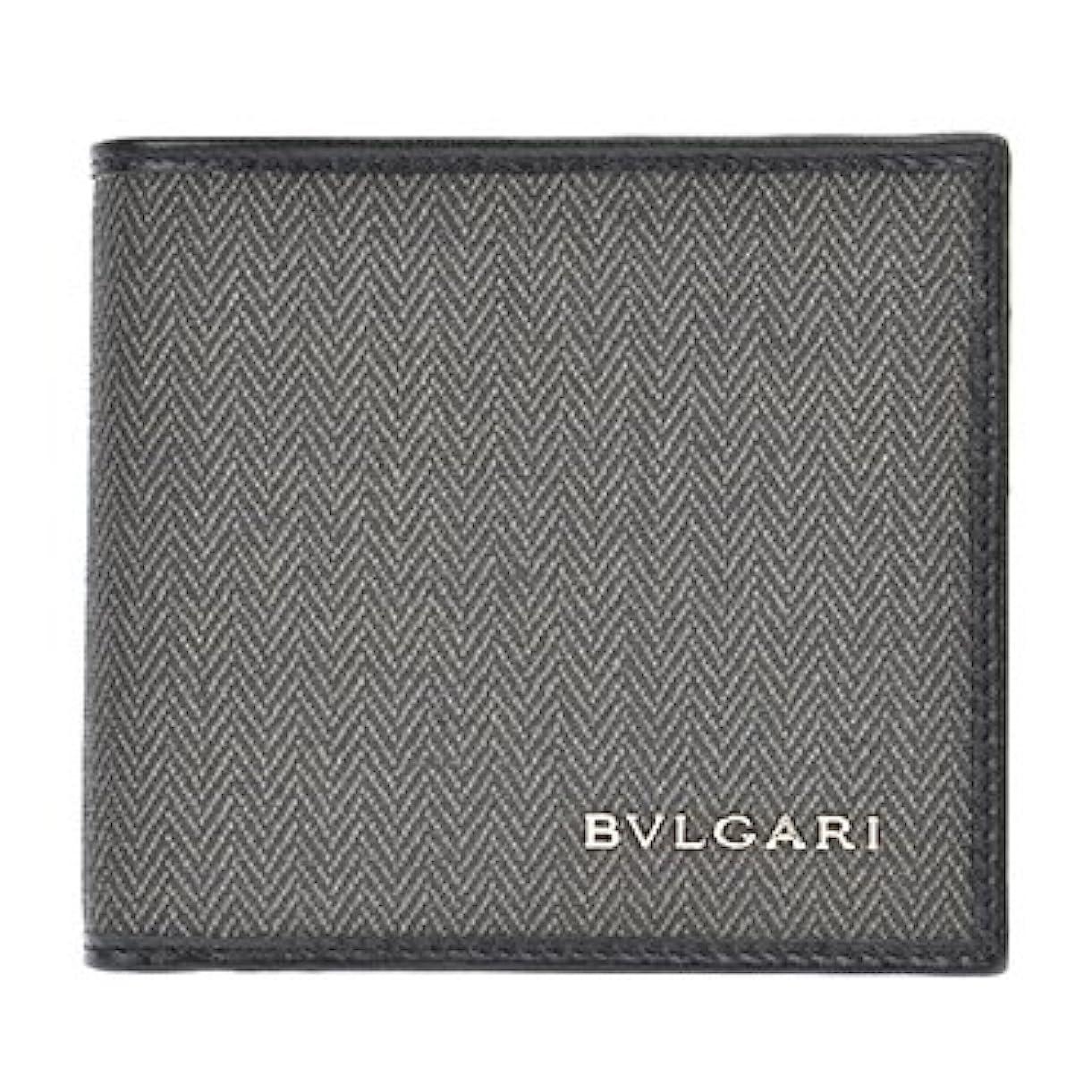 組立どれか曲げる【BVLGARI/ブルガリ】並行輸入品 32581 CANVAS/BLK 二つ折り財布 二つ折り財布 メンズ
