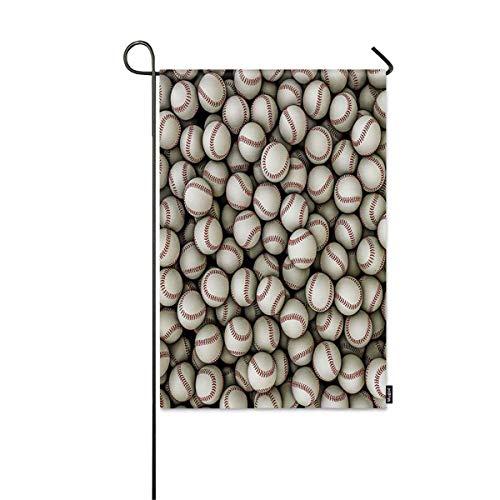 UXyro Baseballs Small Garden Flag 3D Illustration of Panoramic View of Hundreds of Baseballs Decorative Spring Summer Outdoor House Flag for Garden Yard Lawn 12' x 18'