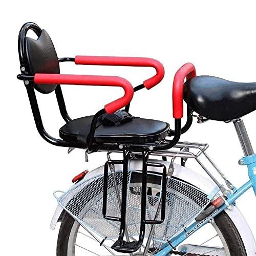RVTYR Asiento de Seguridad para niños para la Parte Trasera de la Bicicleta de la Bicicleta Handle Handle Portador bebé cojín de Asiento de Bicicleta