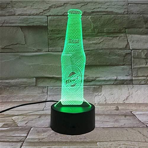 nachtlampje, kerstcadeau, nachtlampje, bierfles, nachtlampje, 3D-touch-sensor, led, druppelwoonkamer, geschenk, batterij, nachtlampje, USB-tafellamp met afstandsbediening.
