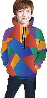Abstract Polygonal Mosaic Kids/Teen Girls' Boys' Hoodie,3D Print Pullover Sweatshirts