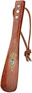 Solid Wood Handle Shoehorn,Old Man and Child Shoehorn,Rosewood,8.66 inch