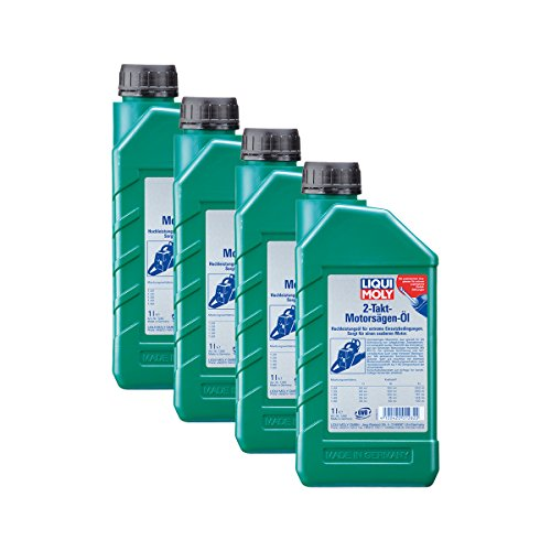 Liqui Moly 4X 1282 2-Takt-Motorsägen-Öl Hochleistungs-Motorsägen-Öl 1L