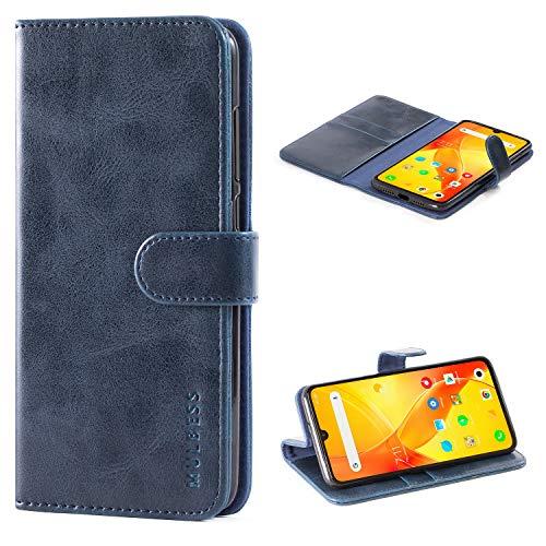Mulbess Funda Xiaomi Mi 9 SE [Libro Caso Cubierta] [Vintage de Billetera Cuero de la PU] con Tapa Magnética Carcasa para Xiaomi Mi 9 SE Case, Azul Marino
