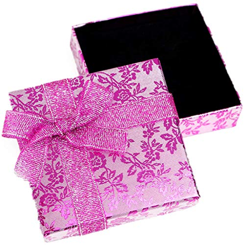RKC x 1PCS Beautiful Sparkling Pink Ribbon JEWELLERY GIFT BOXES For Necklace Bracelet Earrings Rings Baby Showers Wedding Favours Birthdays Charms Wholesale Sets