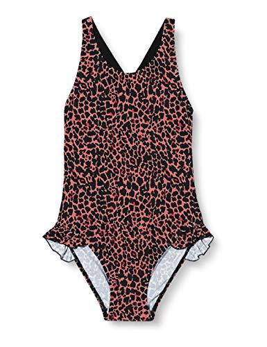 NAME IT Mädchen NKFFLIRIA Swimsuit Badeanzug, Neon Coral, 146-152