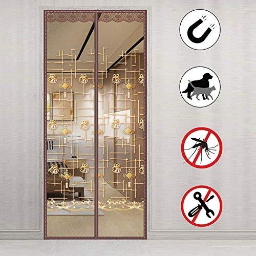 MU Mosquito Cortina 100X210Cm / 39X82Inches Gazebo de la Cortina para Puerta de Patio Sala /, Fácil de Instalar sin Necesidad de Taladrar,V
